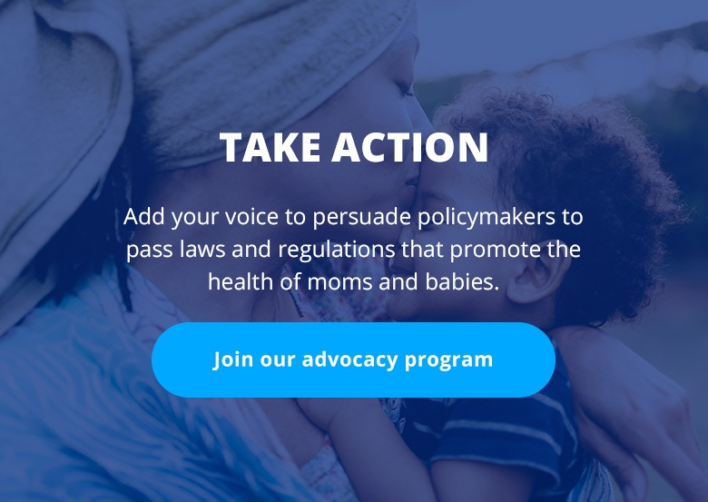Text: Take Action: Join our advocacy program.