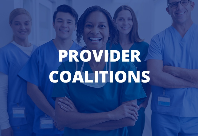 Text: Provider Coalition