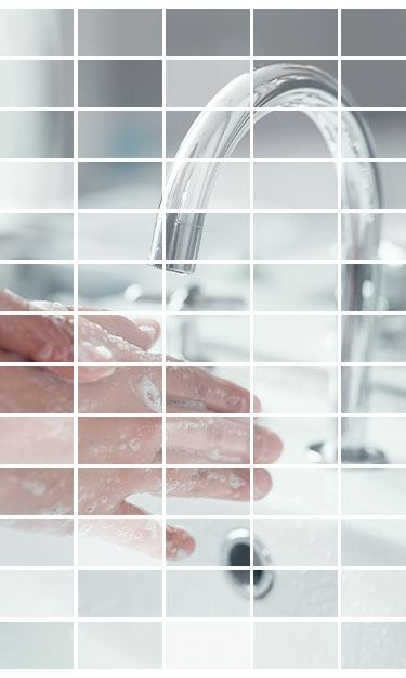 Mosaic of hand washing